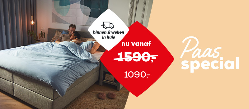 Paascampagne Boxsprings Home 365 banner | Swiss Sense