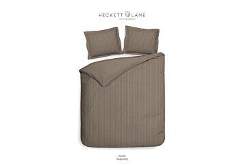 Heckett & Lane Banda Dekbedovertrek Taupe Grey