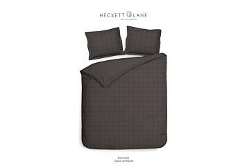 Heckett & Lane Diamante Dekbedovertrek Classic Antracite