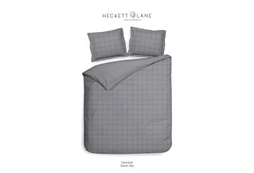 Heckett & Lane Diamante Dekbedovertrek Glacier Grey