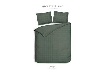 Heckett & Lane Diamante Dekbedovertrek Mineral Green