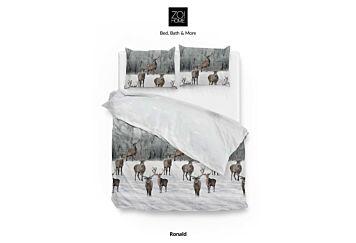 Zo!Home Ronald Dekbedovertrek White/Grey