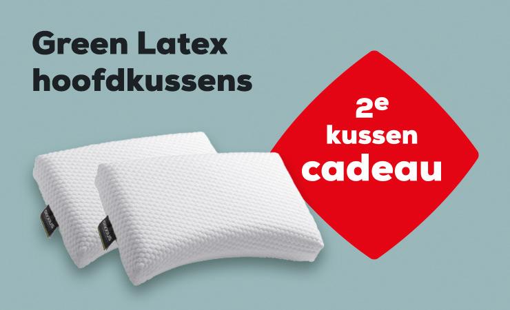 Winter Sale Actie Green Latex Hoofdkussen | Swiss Sense