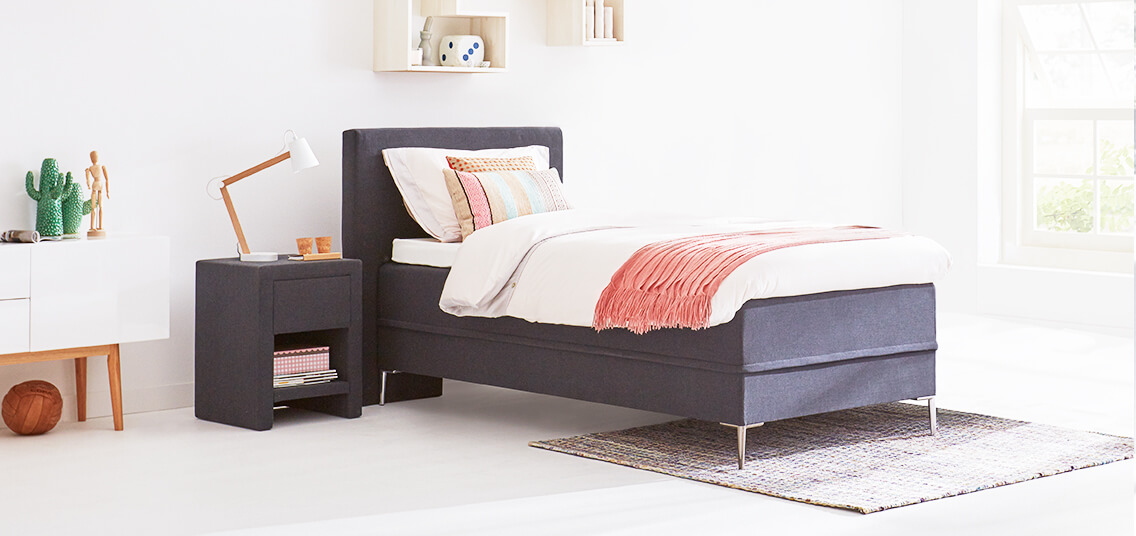 1 persoons boxspring gratis montage swiss sense. Black Bedroom Furniture Sets. Home Design Ideas