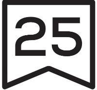 25 jaar garantie