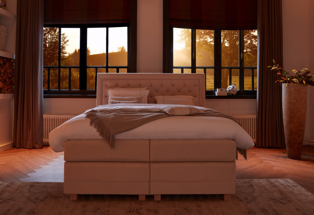 Beige boxspring Diks Cellini