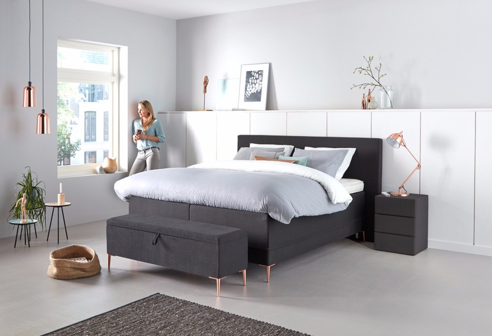 cheap zwarte boxspring lifestyle with beter bed spijkenisse. Black Bedroom Furniture Sets. Home Design Ideas