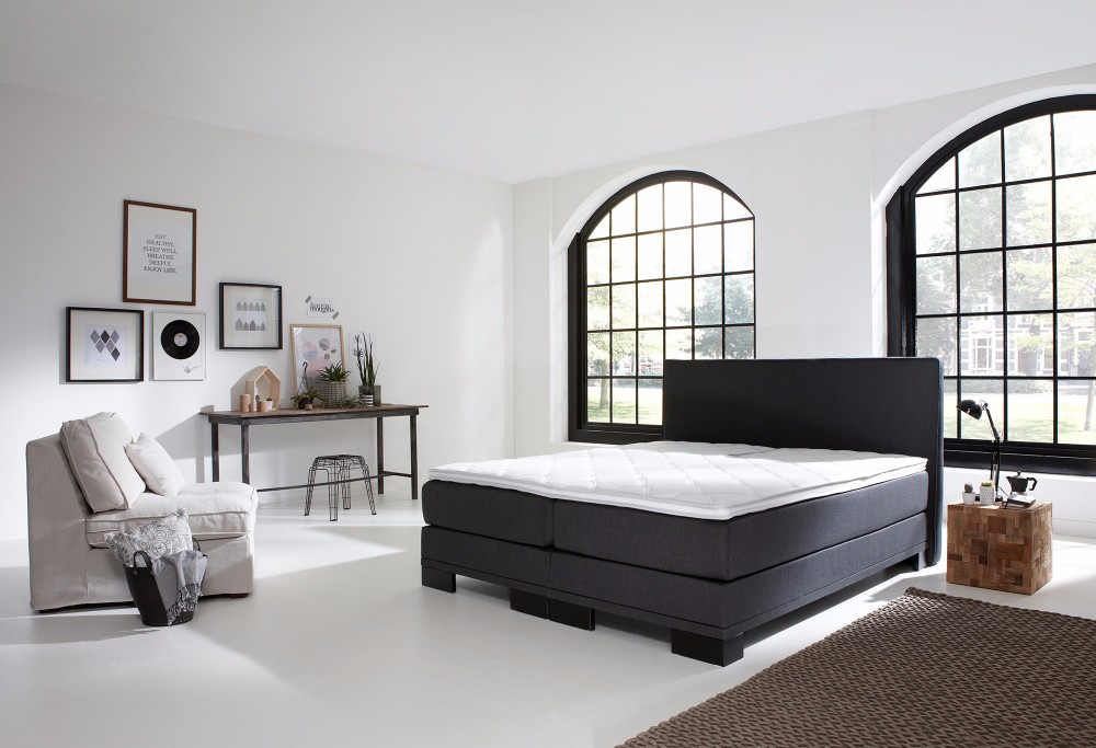 boxspring home 120 swiss sense. Black Bedroom Furniture Sets. Home Design Ideas