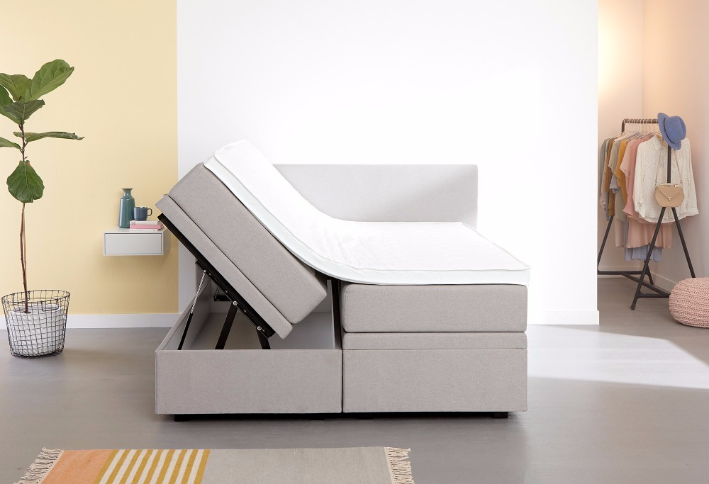 Grijze boxspring Home Space