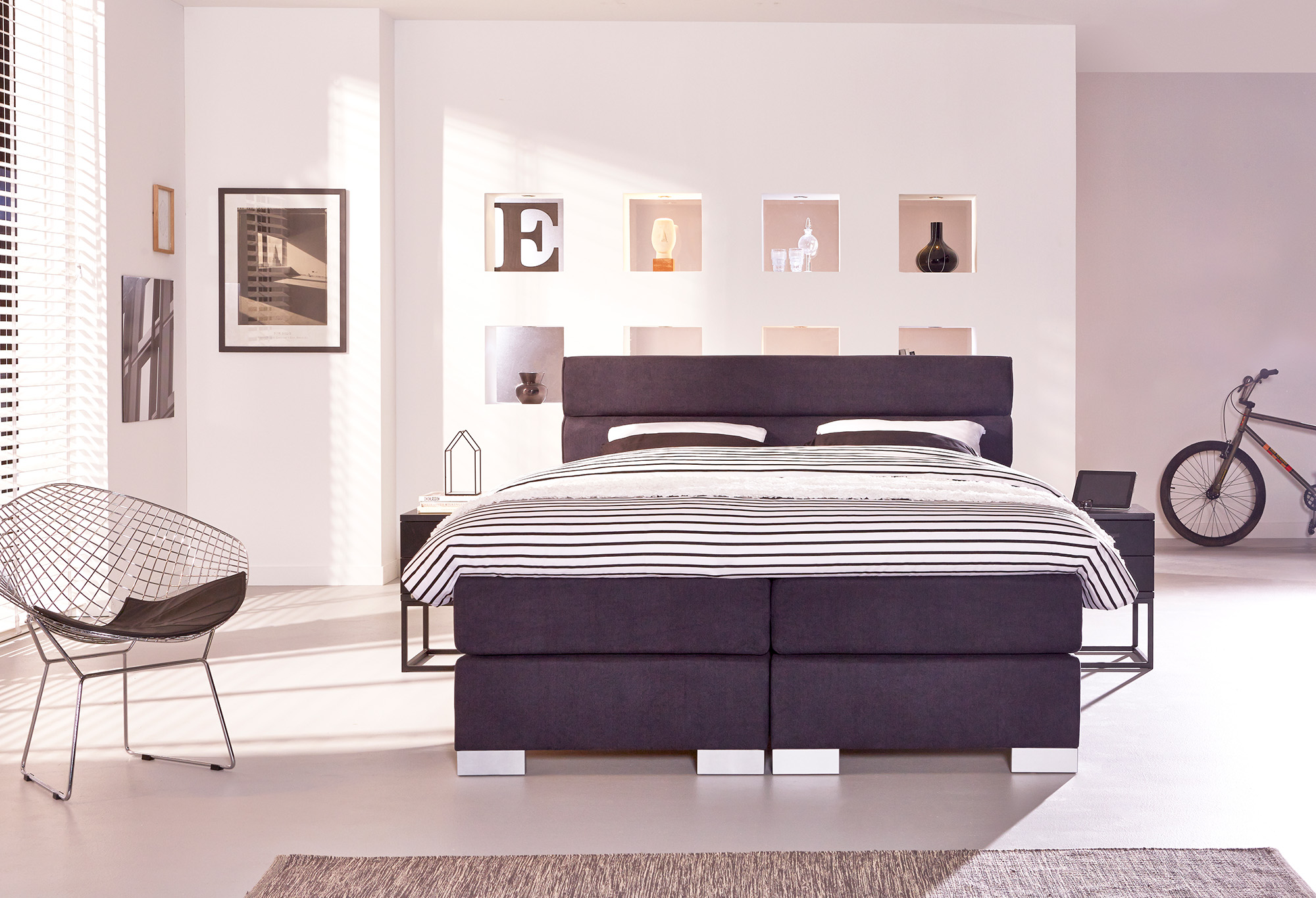 boxspring night boston swiss sense. Black Bedroom Furniture Sets. Home Design Ideas