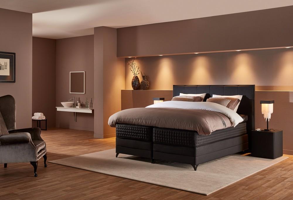boxspring royal continental swiss sense. Black Bedroom Furniture Sets. Home Design Ideas