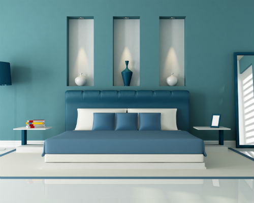Slaapkamer Inrichten | Blauwe Slaapkamer