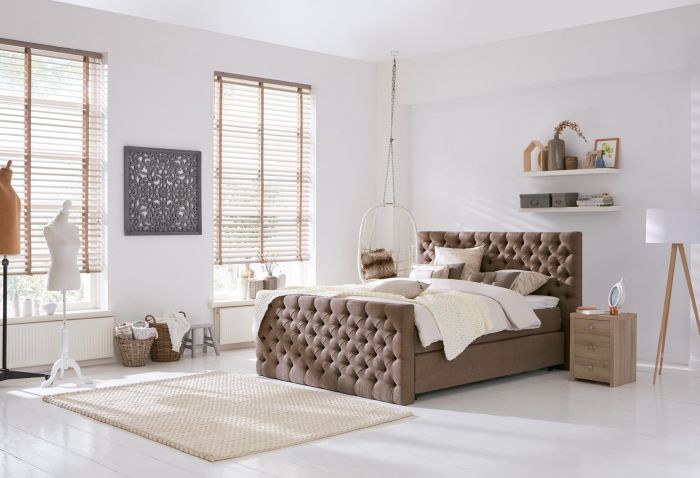 Landelijke slaapkamer tips with landelijke slaapkamer meubels for Boxspring kasten