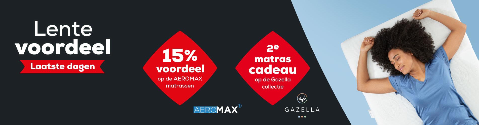 AEROMAX en Gazella Matrassen Actie | Swiss Sense