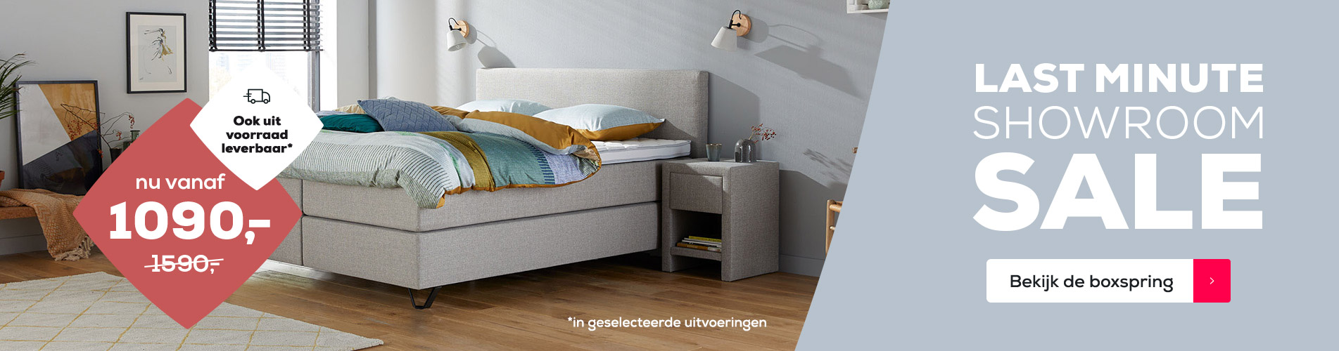 Boxspring Home 180 Last Minute Showroom Sale | Swiss Sense