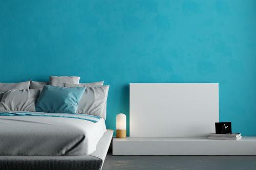 Slaapkamer kleuren   Blauwe slaapkamer - 1