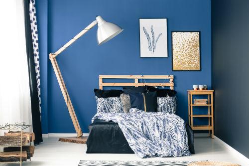 Slaapkamer kleuren   Blauwe slaapkamer