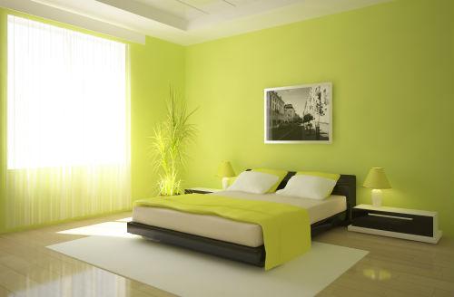 Slaapkamer kleuren   Groene slaapkamer