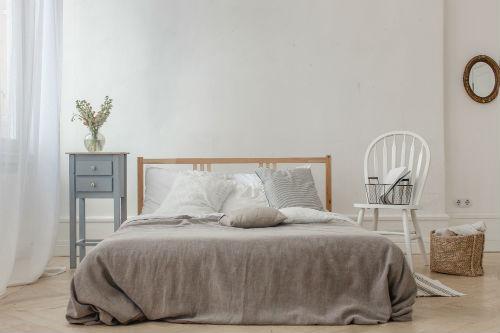 Slaapkamer kleuren   Witte slaapkamer - 1