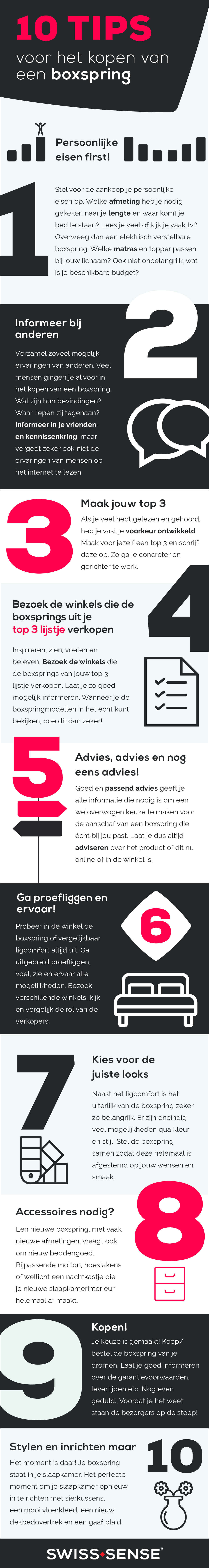 10 Tips Boxspring Kopen Infographic   Swiss Sense