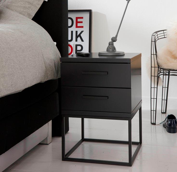 Nachtkastje Cube Zwart| Swiss Sense