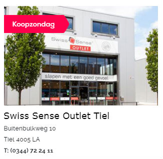 Swiss Sense Outlet Tiel