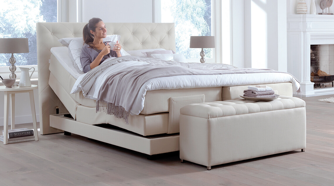 witte boxspring kopen swiss sense gratis montage. Black Bedroom Furniture Sets. Home Design Ideas