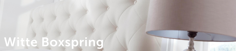 Witte Boxspring Header | Swisssense.nl