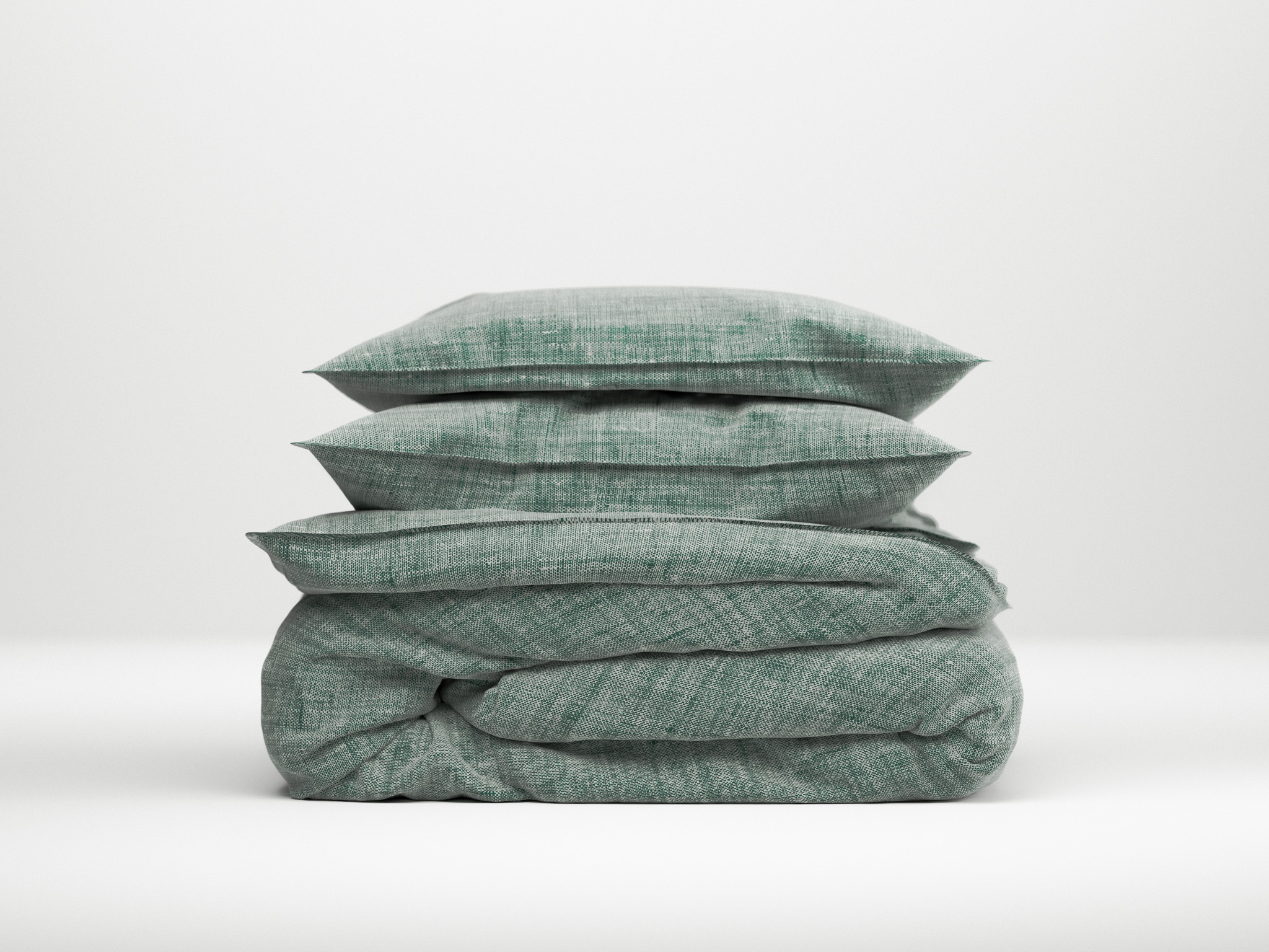 Zo!Home Lino Dekbedovertrek Emerald Green| Swiss Sense