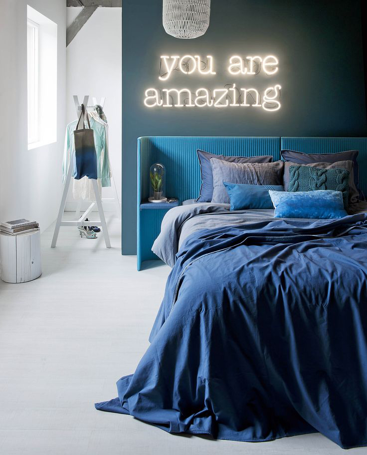 blauw slaapkamer inspiratie